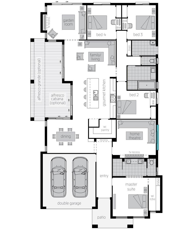 Floor Plan - Garden Retreat Two - McDonald Jones