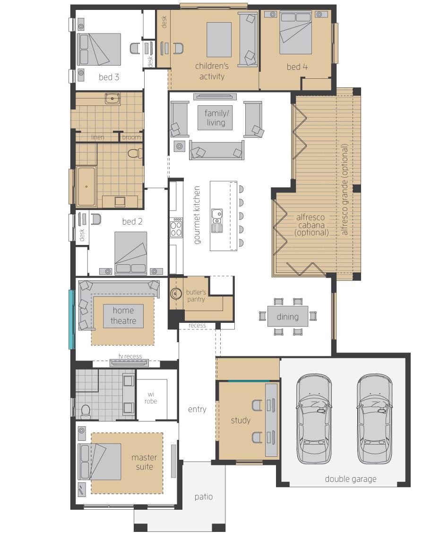 Floor Plan - Garden Retreat Upgrades - McDonald Jones