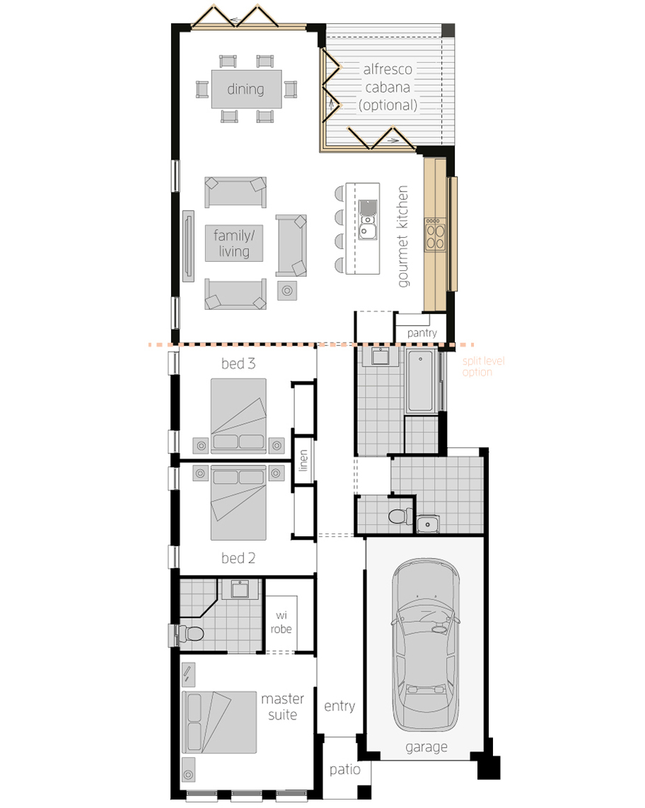 Floor Plan -  Hamilton Three Upgrade - McDonald Jones
