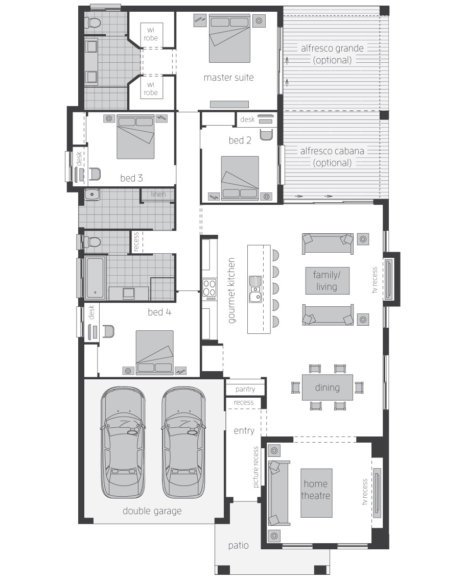 Floor Plan-Havana-Three-McDonald Jones