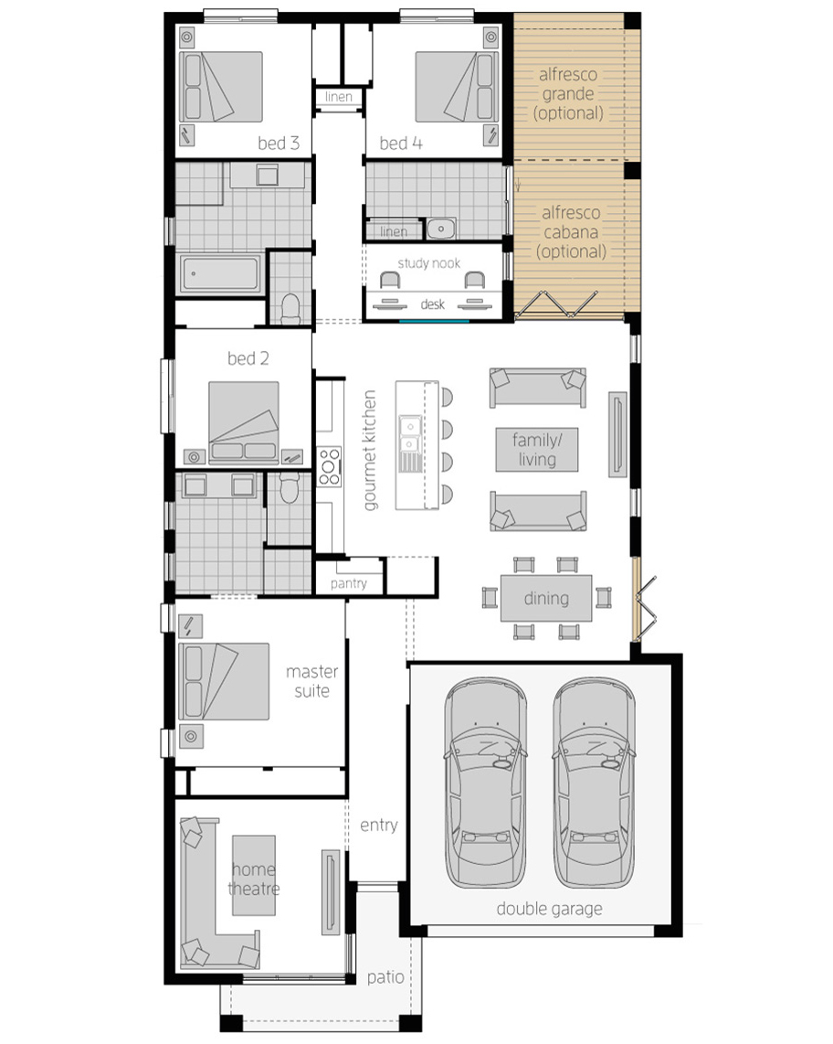 Floor Plan-Havana-28-Zero-Upgrades-McDonald Jones