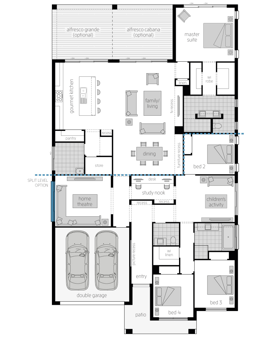 Floor Plan - Miami 16 Elite - Upgrade - McDonald Jones