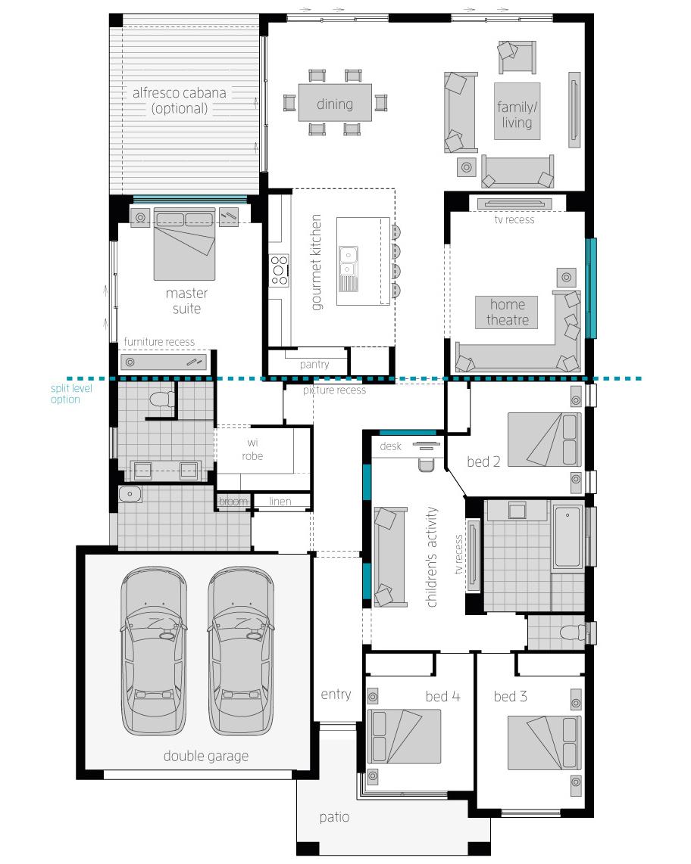 Floor Plan - Milano Four  Zero - McDonald Jones
