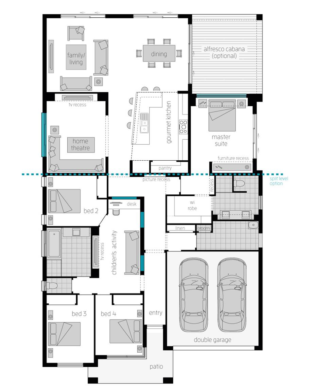 Floor Plan - Milano 15 Home Design - McDonald Jones