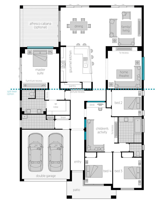 Floor Plan - Milano 16 Home Design - McDonald Jones