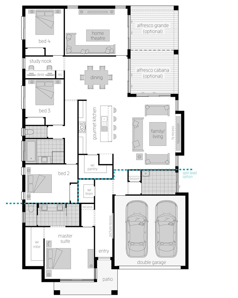 Floor Plan - Portsea One Home Design - McDonald Jones