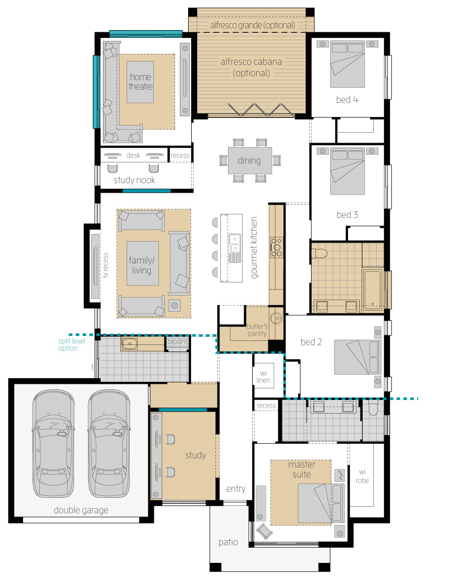Floor Plan - Portsea Two Home Design - McDonald Jones