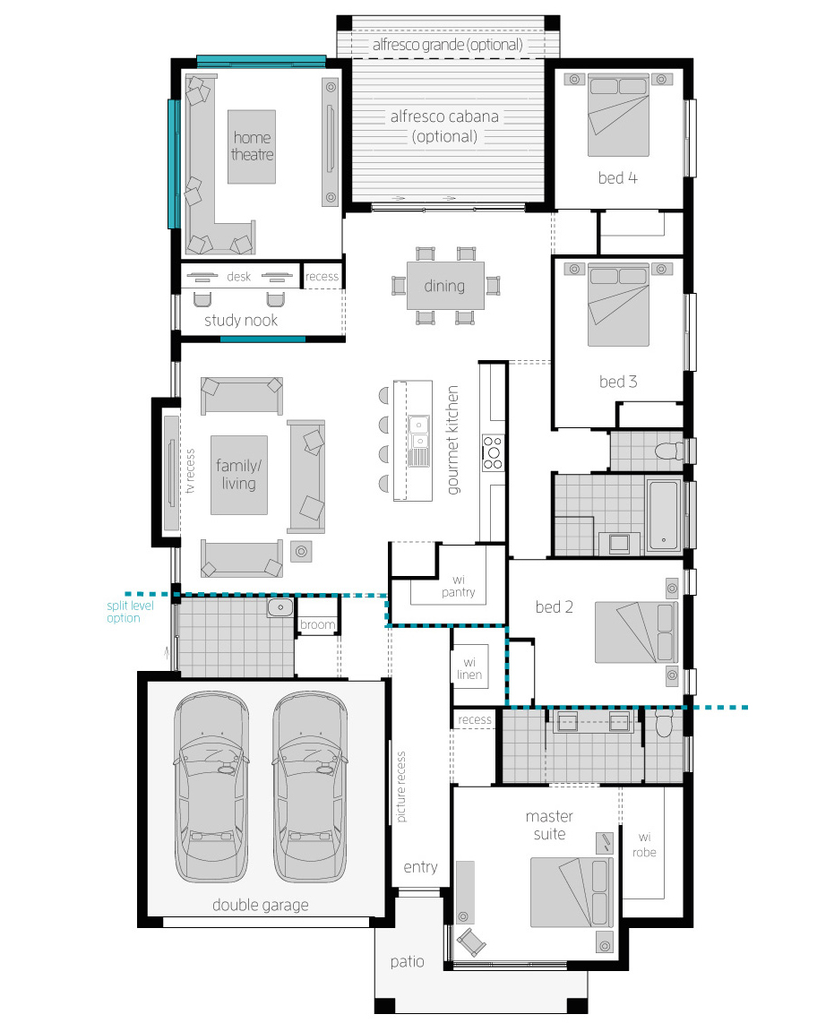 Floor Plan Upgrade - Portsea Two Home Design - McDonald Jones