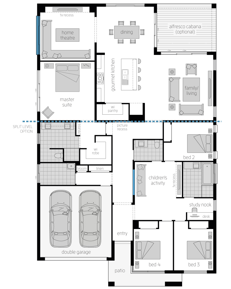 Floor Plan - San Marino - Architecturally Designed Home - McDonald Jones