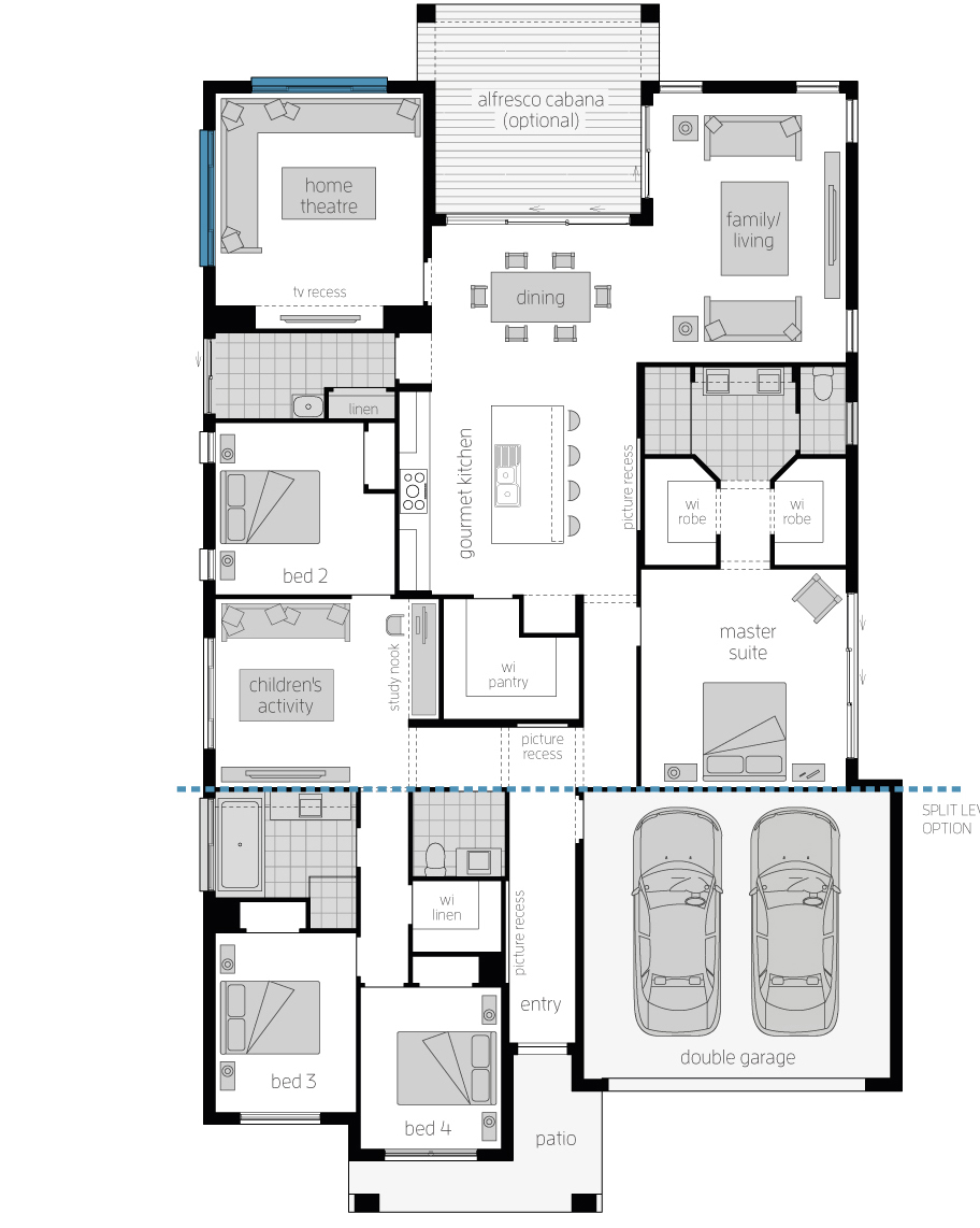 Floor Plan - Seaside Retreat - Architecturally Designed Home - McDonald Jones