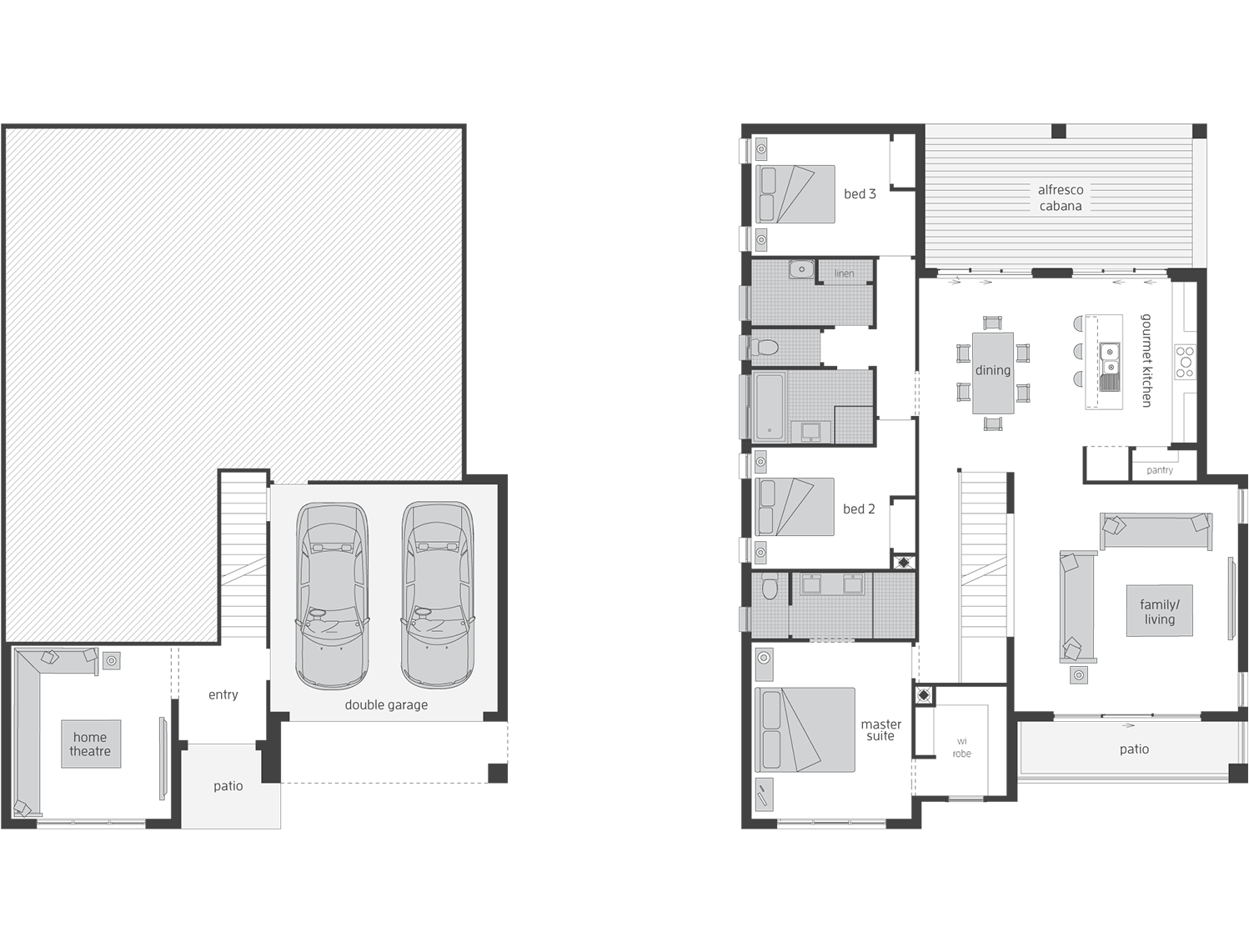 Floor Plan - Monterey - Split Level Home - McDonald Jones