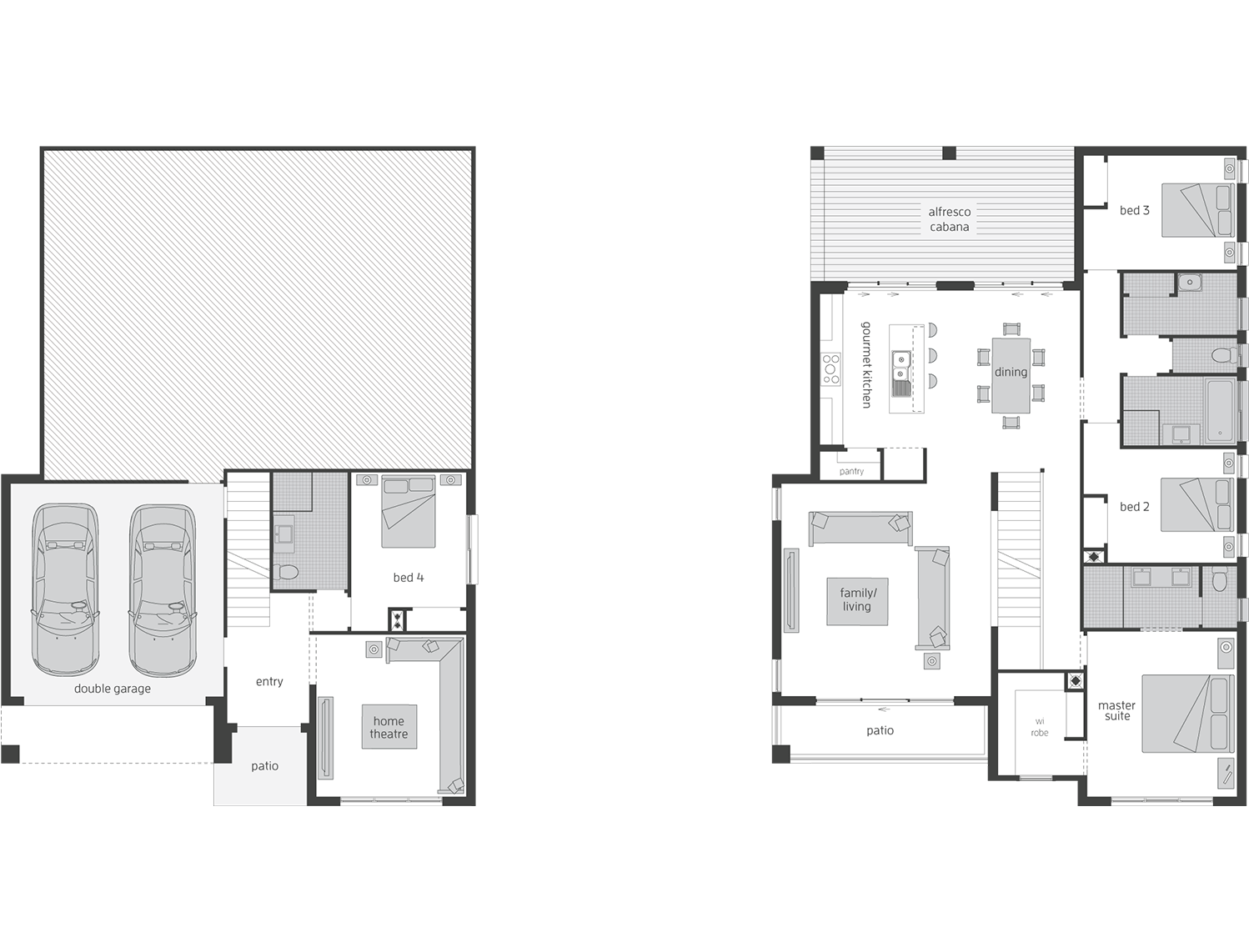 Floor Plan - Monterey - Sloping Block Homes - McDonald Jones