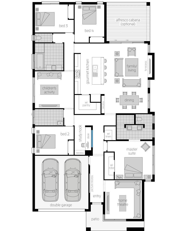 Floor Plan - St Tropez - Luxury Home Design - McDonald Jones