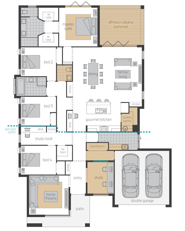 Floor Plan - Vienna - Upgrades - McDonald Jones