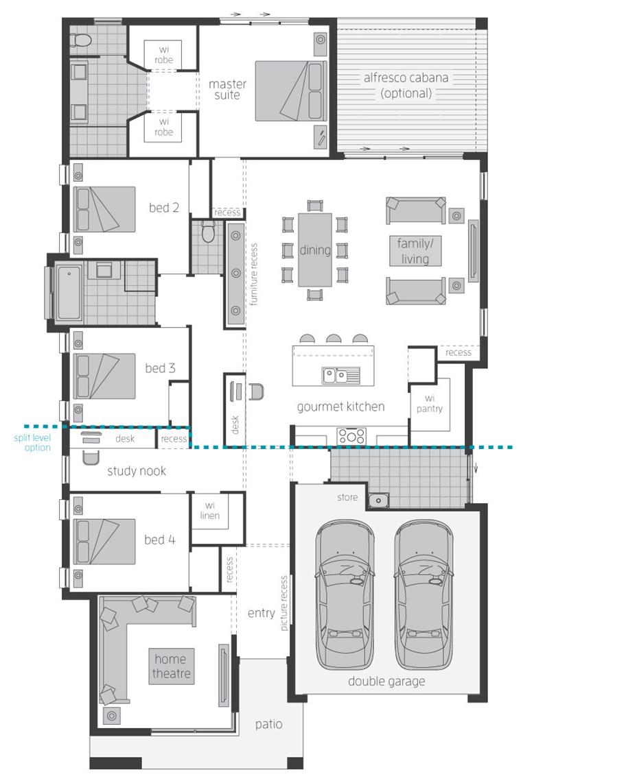 Floor Plan - Vienna Home Design - McDonald Jones