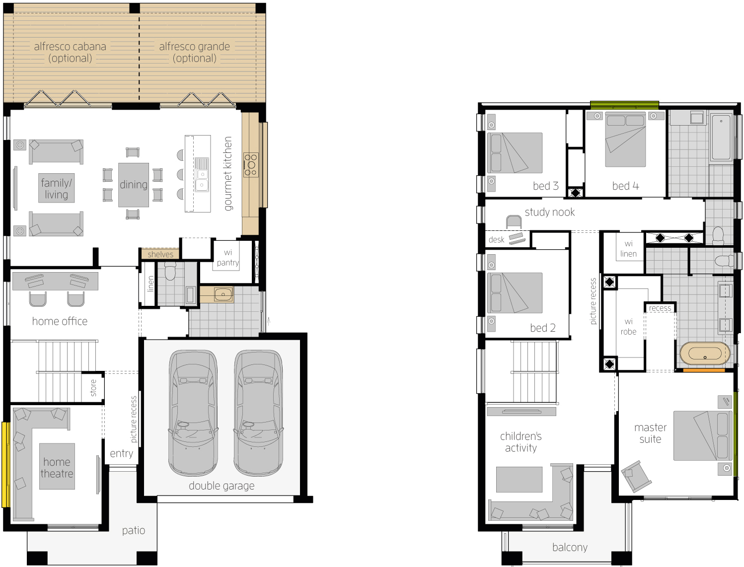 Floor Plan - Bridgetown 32 Luxury Two Storey Home - McDonald Jones