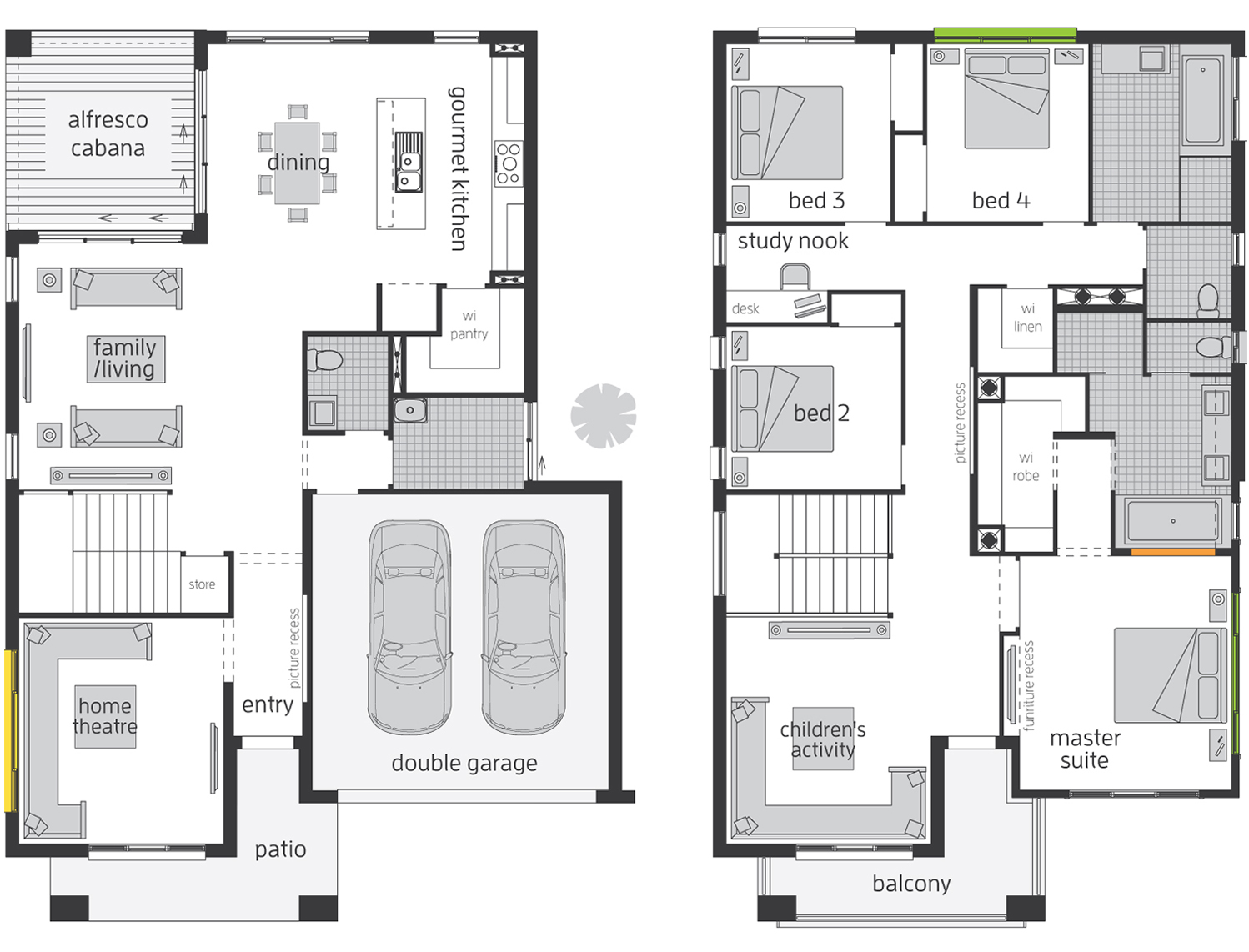 Floor Plan - Bridgetown 33 Luxury Two Storey Home - McDonald Jones
