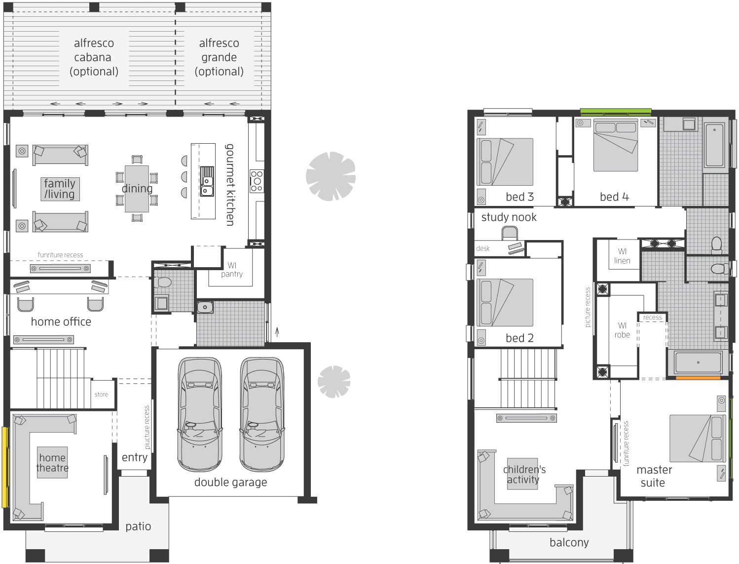 Floor Plan - Bridgetown 38 Luxury Two Storey Home - McDonald Jones