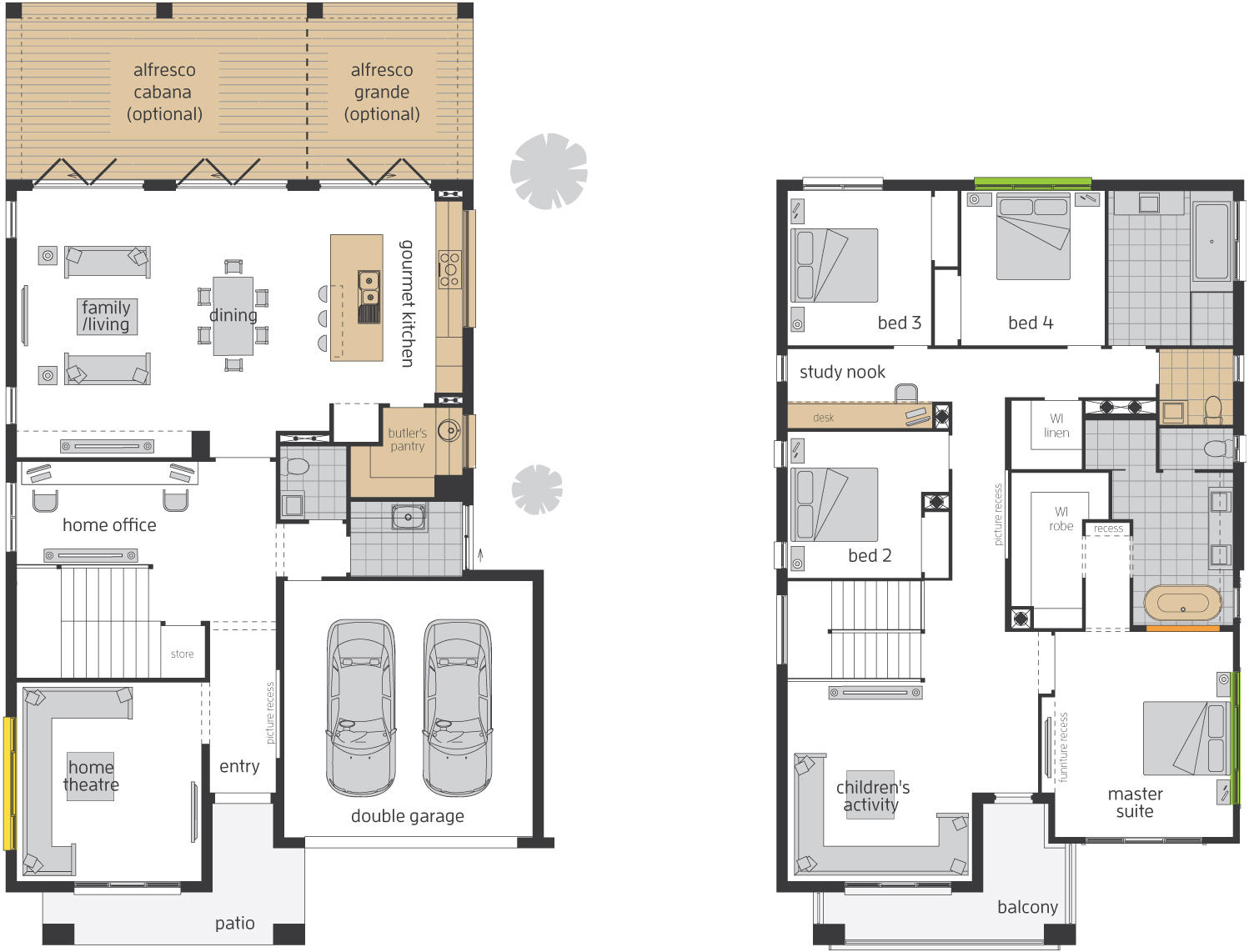 Floor Plan - Bridgetown 41 Luxury Two Storey Home - McDonald Jones