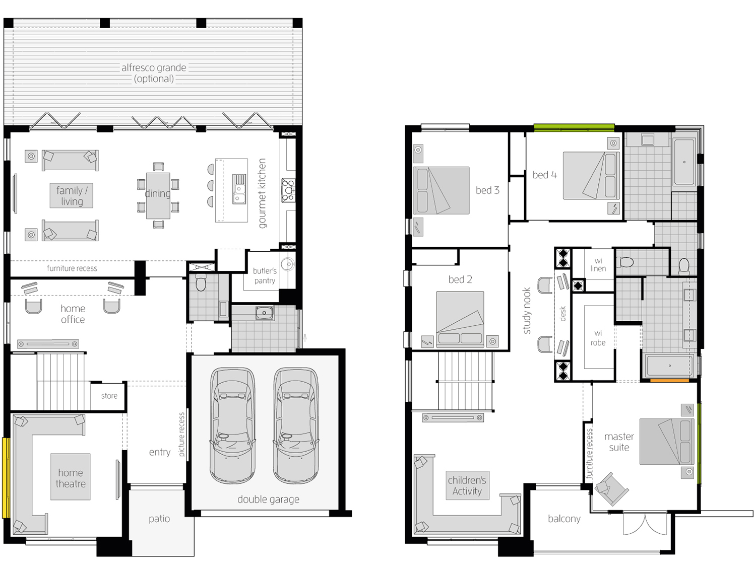 Floor Plan - Bridgetown 43 Luxury Two Storey Home - McDonald Jones