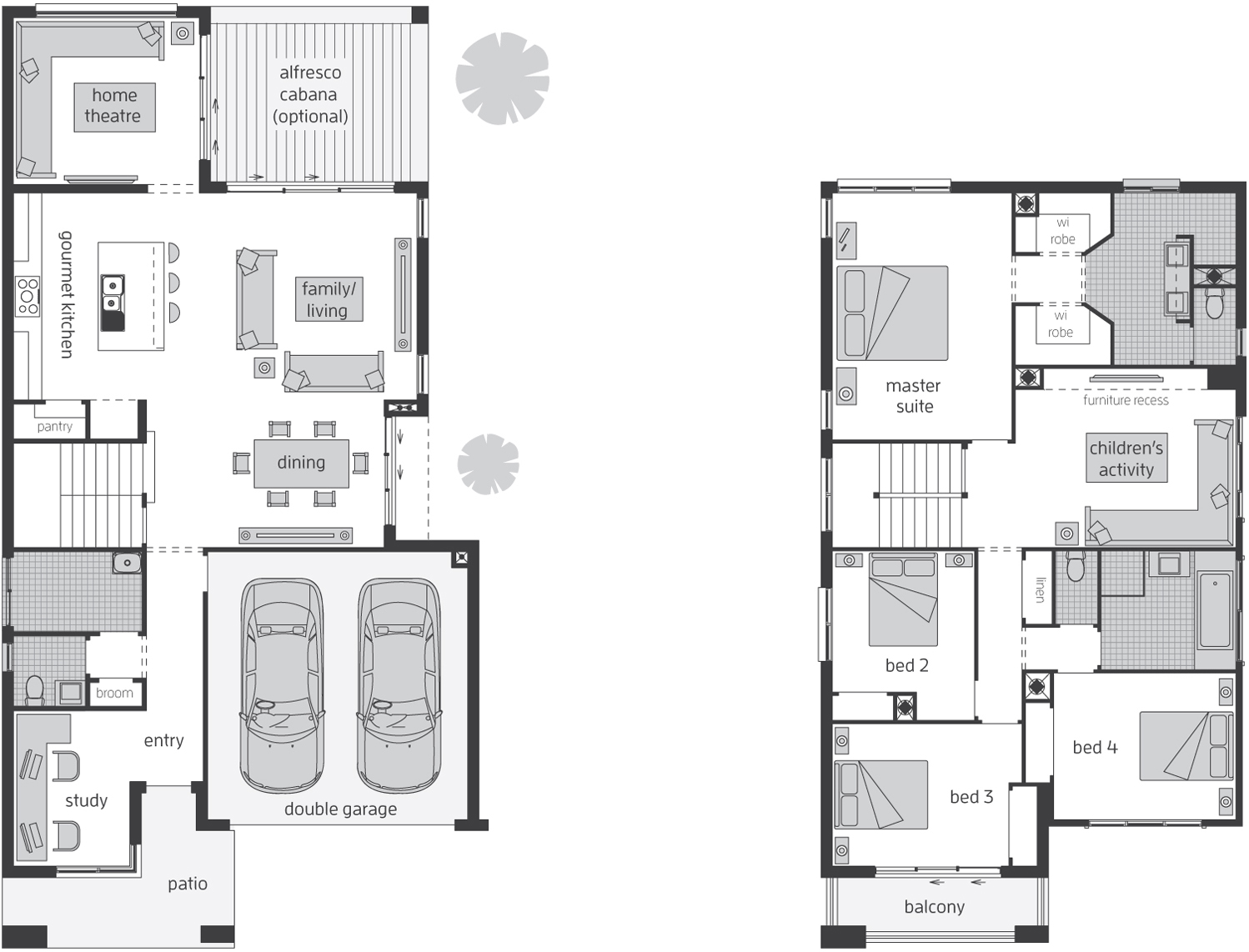Floor Plan - Edenvale 32 Luxury Two Storey Home - McDonald Jones