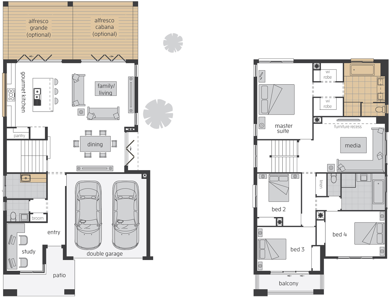 Floor Plan - Edenvale 33 Luxury Two Storey Home - McDonald Jones