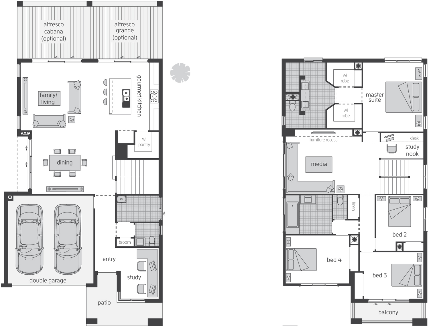 Floor Plan - Edenvale 34 Luxury Two Storey Home - McDonald Jones