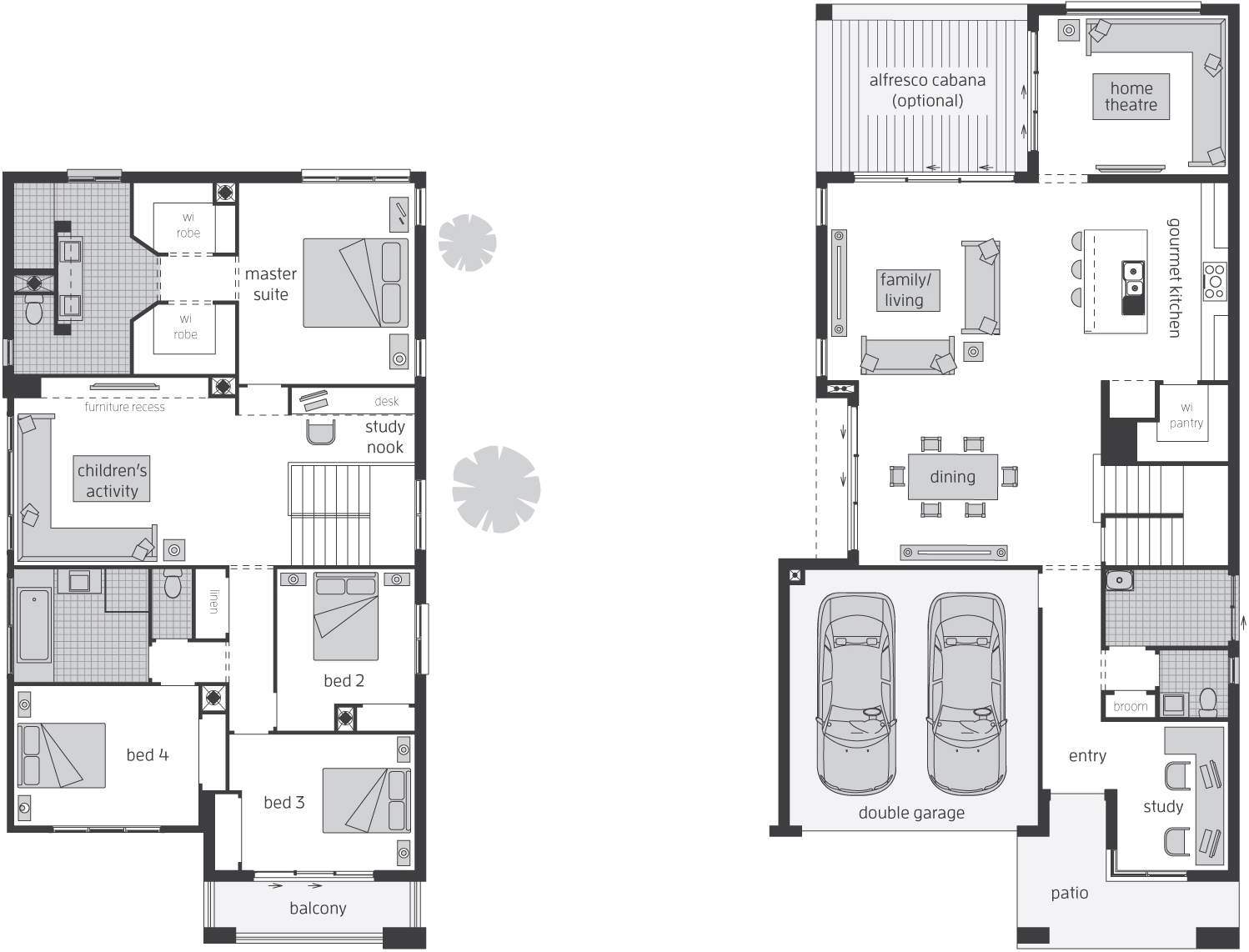 Floor Plan - Edenvale 35 Luxury Two Storey Home - McDonald Jones