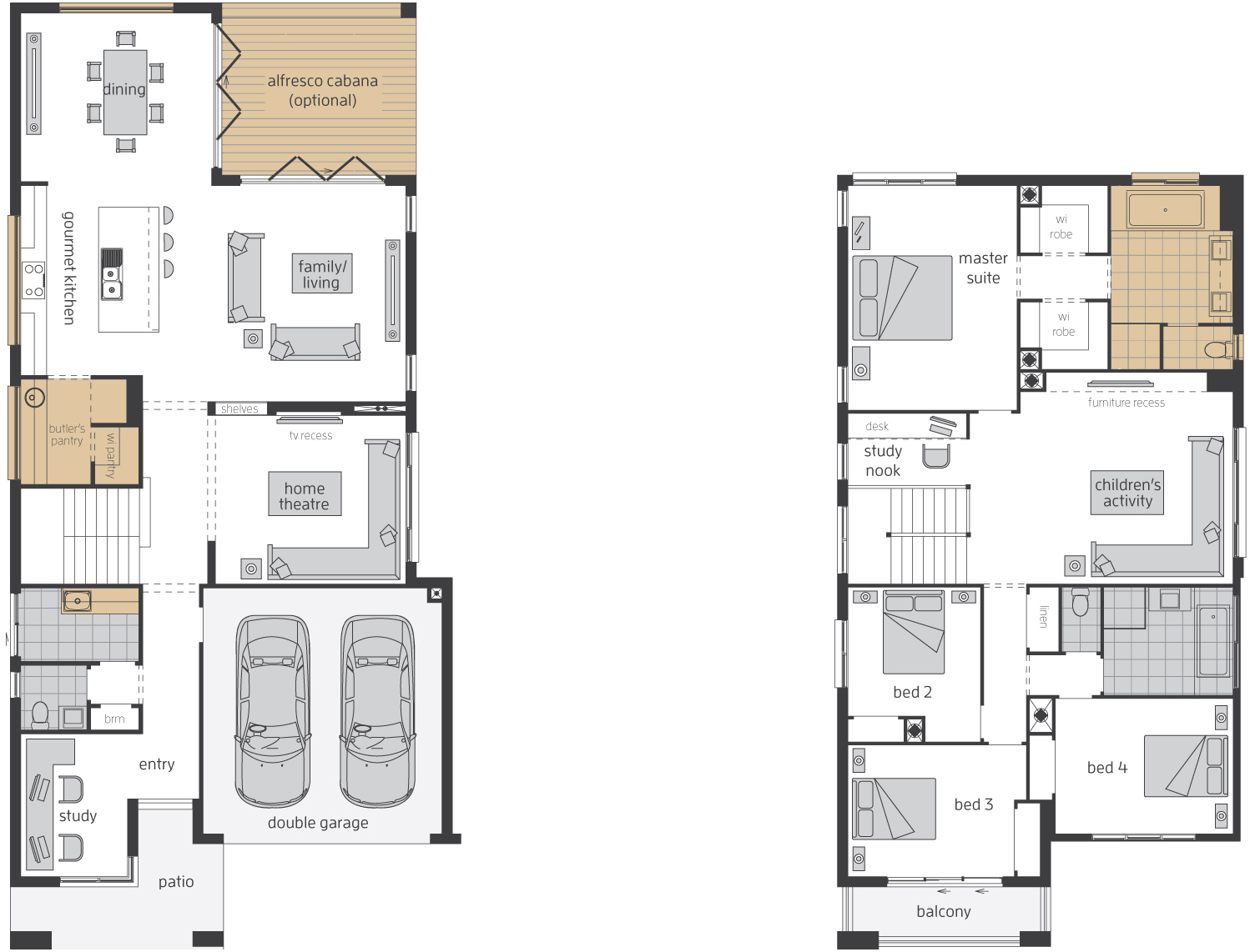Floor Plan - Edenvale 37 Luxury Two Storey Home - McDonald Jones