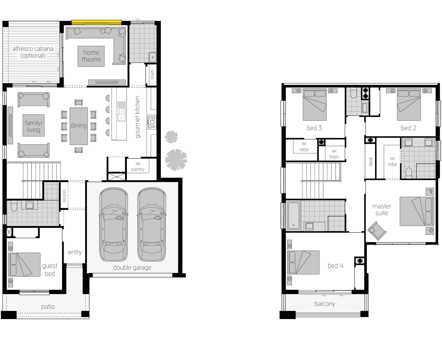 Floor Plan - Lexington Two Storey Home - McDonald Jones