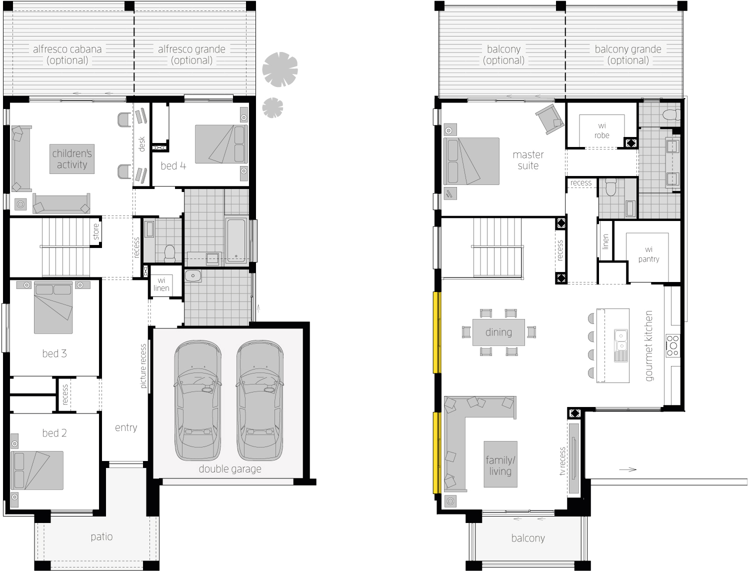 Floor Plan - Massena 30 Upside Down Two Storey Home - McDonald Jones