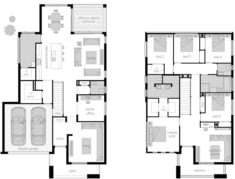 Floor Plan - Saxonvale Double Storey Home - McDonald Jones