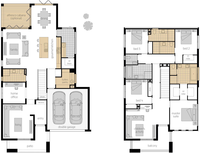 Floor Plan - Saxonvale 36 Double Storey Home - McDonald Jones