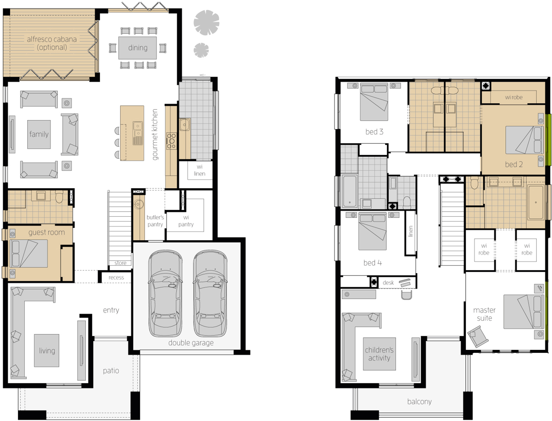 Floor Plan - Saxonvale 40 Double Storey Home - McDonald Jones