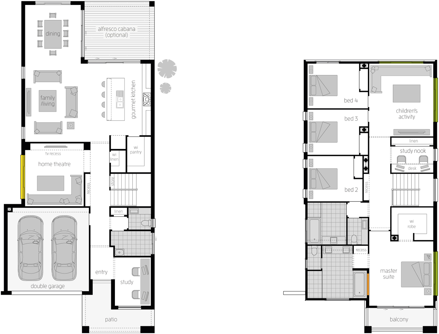 Floor Plan - Stclair Double Storey Home - McDonald Jones