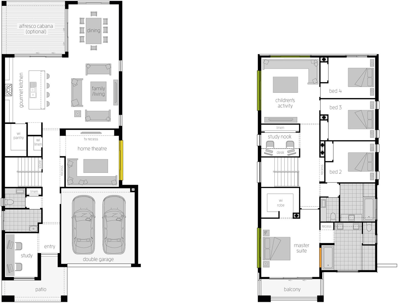 Floor Plan - Stclair Double Storey Home - McDonald Jones