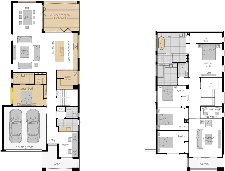 Floor Plan - Stclair Two Double Storey Home - McDonald Jones