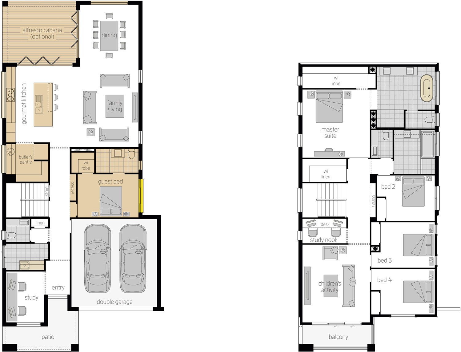 Floor Plan - Stclair Two Double Storey Home - McDonald Jones