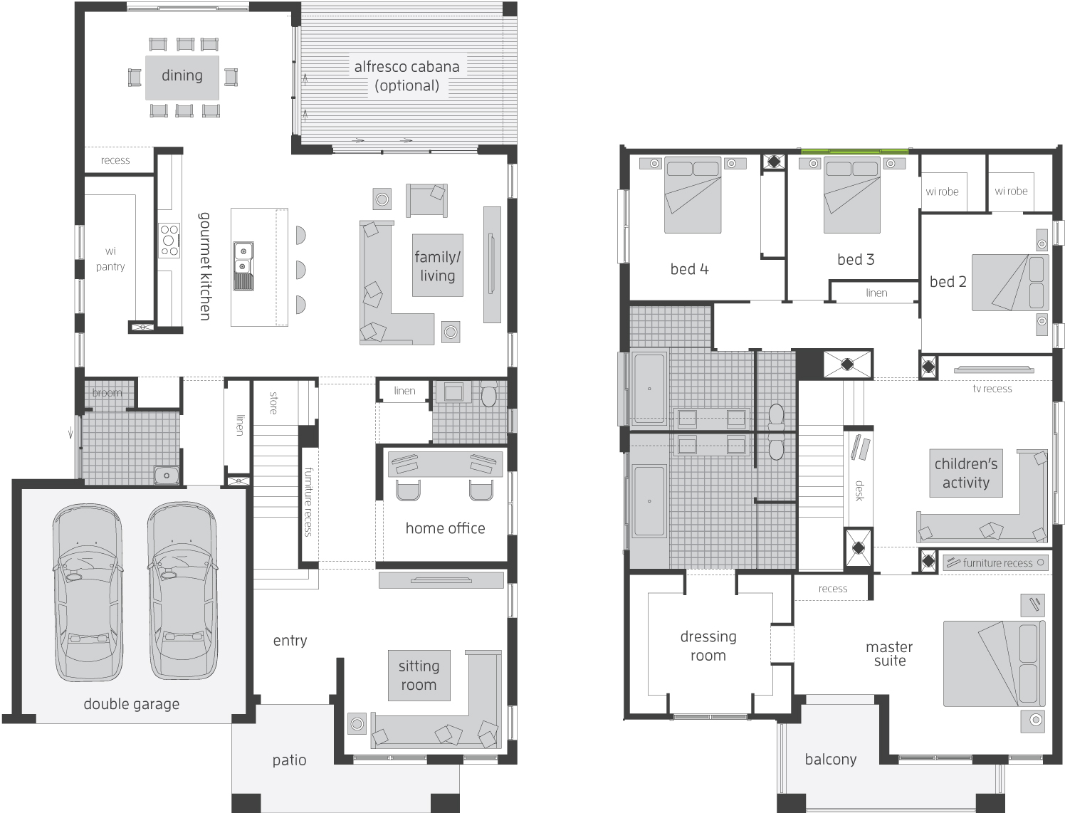 Floor Plan - Tallavera 40 Double Storey Home - McDonald Jones