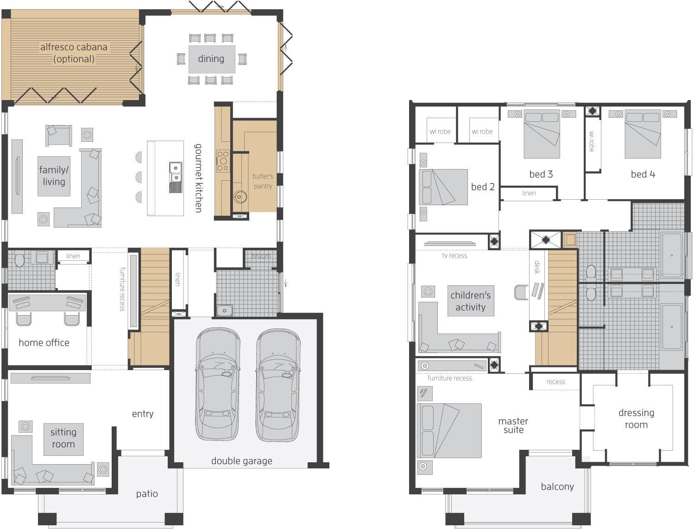 Floor Plan - Tallavera 40 Double Storey Home - McDonald Jones