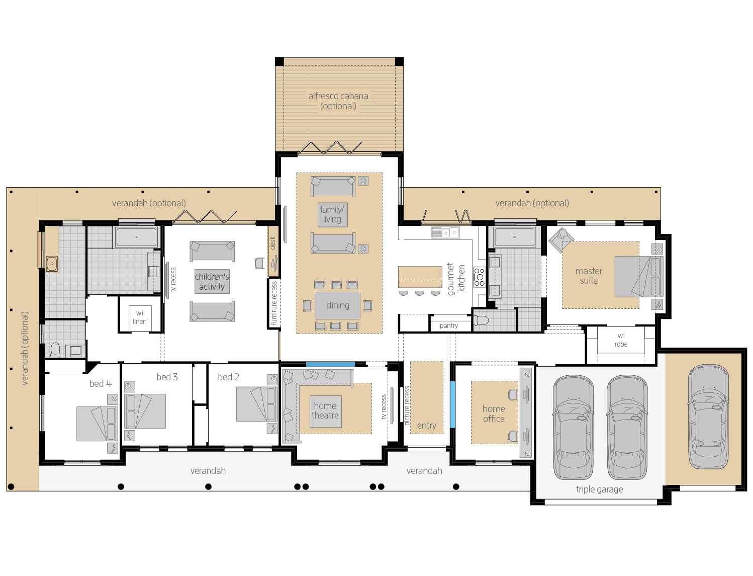 Floor Plan - Bronte - Country Home Design - McDonald Jones