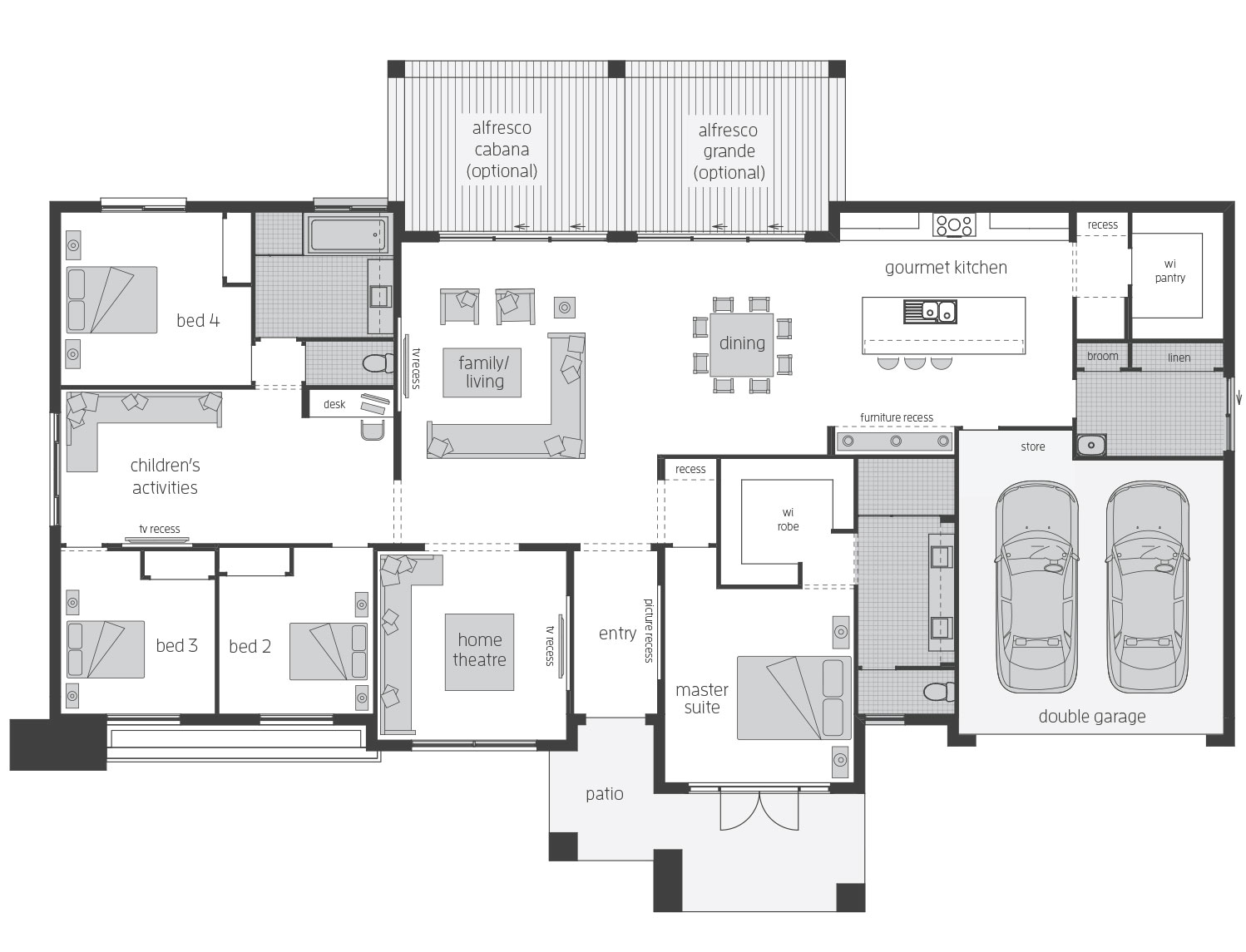 Floor Plan - Esperance - Acreage Home Design - McDonald Jones
