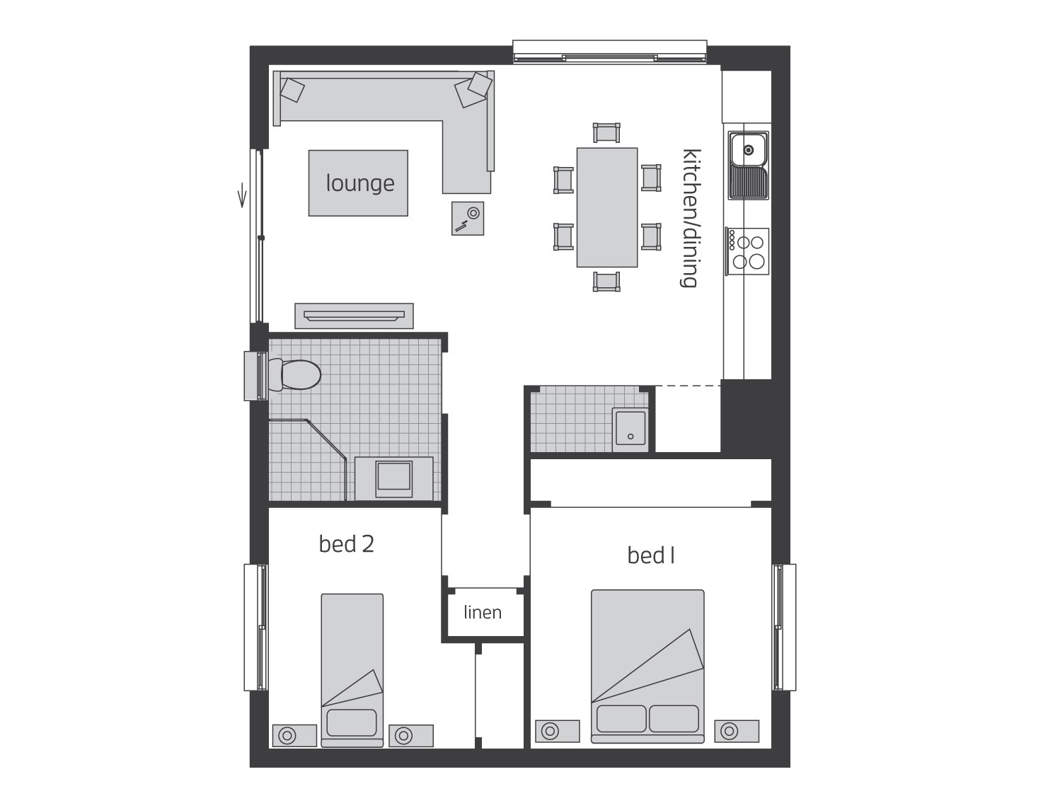 Floor Plan - Granny Flat 1 - McDonald Jones