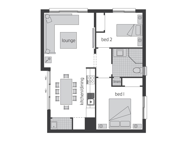 Floor Plan - Granny Flat 2 - McDonald Jones