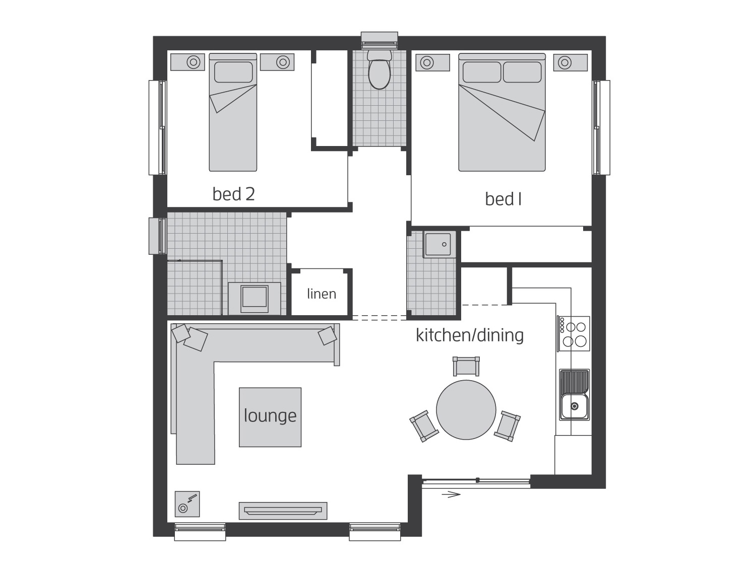 Floor Plan - Granny Flat 3 - McDonald Jones