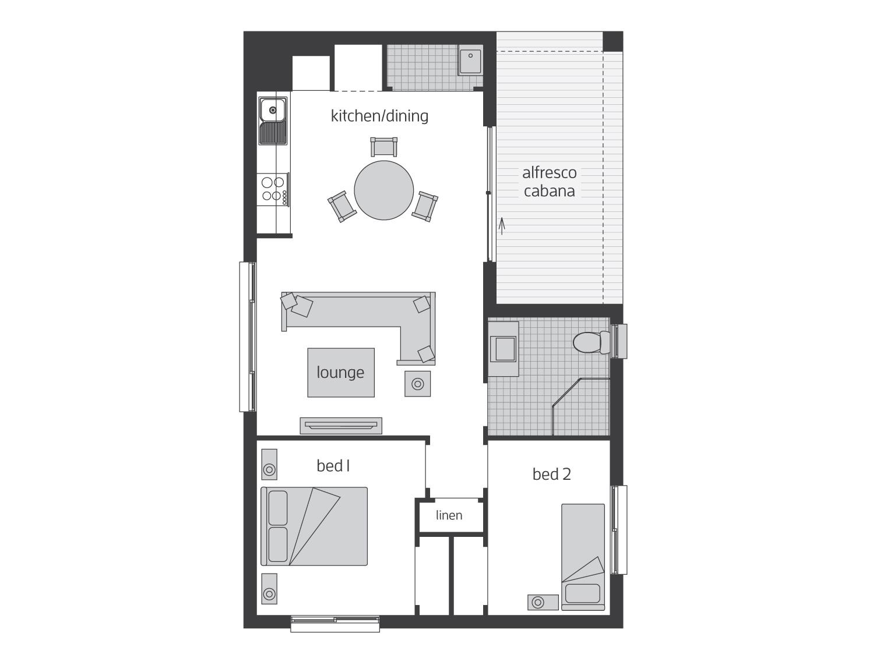 Floor Plan - Granny Flat 5 - McDonald Jones