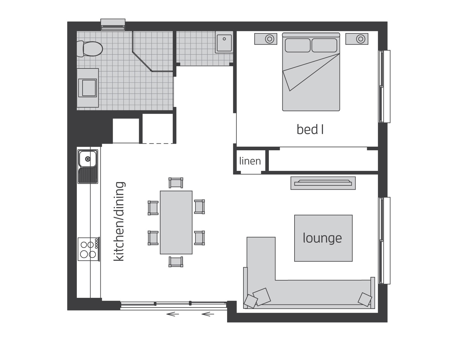 Floor Plan - Granny Flat 6 - McDonald Jones