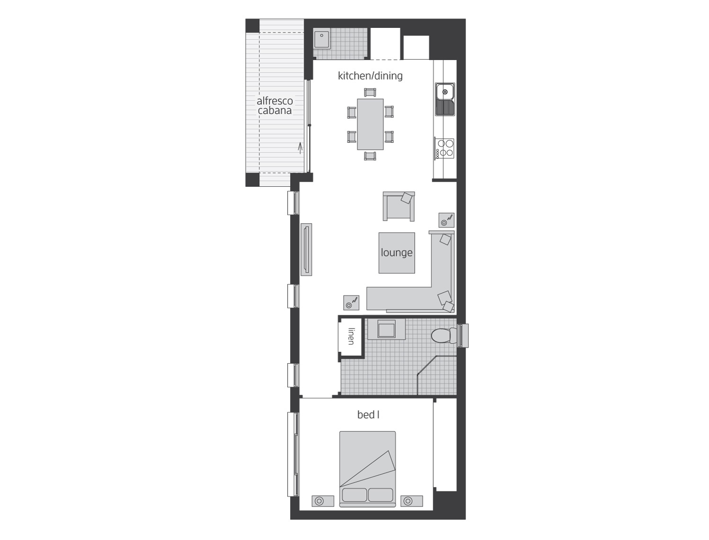 Floor Plan - Granny Flat 7 - McDonald Jones