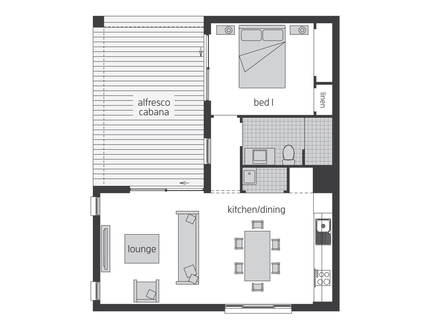 Floor Plan - Granny Flat 8 - McDonald Jones