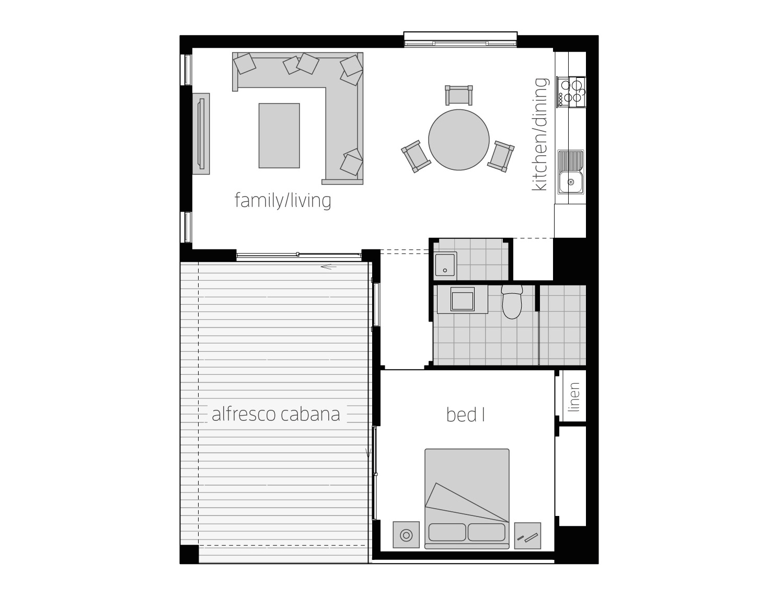 Floor Plan - Granny Flat 9 - McDonald Jones